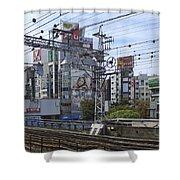 Electric Train Society -- Kansai Region Japan Shower Curtain by Daniel Hagerman