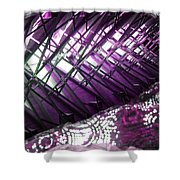 Electric Violet Fish Shower Curtain