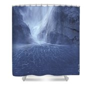 Electric Water - Milford Sound Shower Curtain