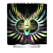 Electric Wings Shower Curtain