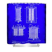 Electrical Battery Patent Drawing 1e Shower Curtain