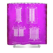 Electrical Battery Patent Drawing  Shower Curtain