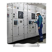 Electrical Panel Board Manufacturers Shower Curtain