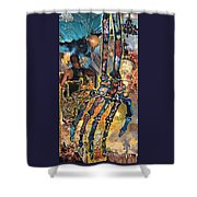 Electricity Hand La Mano Poderosa Shower Curtain