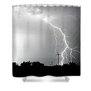 Electricity Vs Electricity-signed Shower Curtain