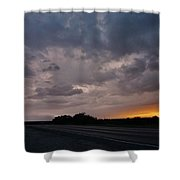 Electrified Skies Shower Curtain