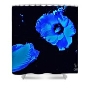 Electrifying Blue Beauty Shower Curtain