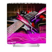 Electro Guitar Shower Curtain