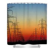 Electrodusk Shower Curtain