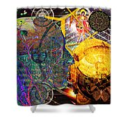 Electromagnetic Lighthouse Thirdeye Portal Shower Curtain by Joseph Mosley