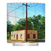 Electromagnetic Motel Shower Curtain