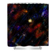 Electrospace  Shower Curtain
