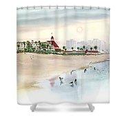 Elegance By The Sea, Coronado Shower Curtain