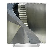 Elegance Of Steel And Concrete Shower Curtain