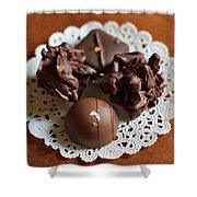 Elegant Chocolate Truffles Shower Curtain by Louise Heusinkveld