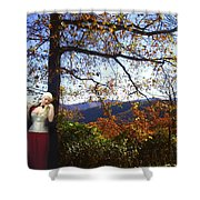 Elegant Fall Shower Curtain