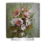 Elegant Flowers Shower Curtain