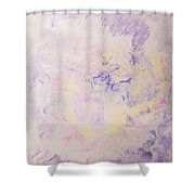 Elegant Hand Made Ink Design In Purple And Yellow Shower Curtain