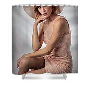 Elegant Johanna In Peach Shower Curtain