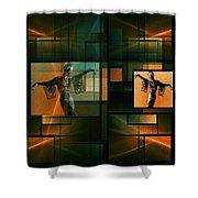 Elegant Reflection Shower Curtain