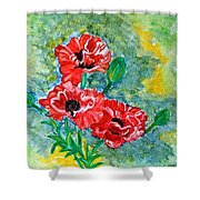 Elegant Poppies Shower Curtain