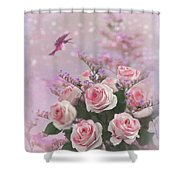 Elegant Roses-1 Shower Curtain