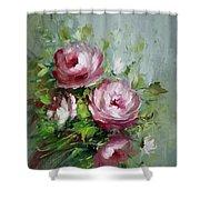 Elegant Roses Shower Curtain