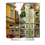Elegant Vienna Apartment Building Shower Curtain