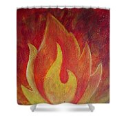Element Of Fire Shower Curtain