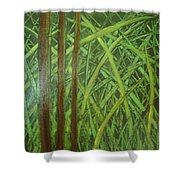Element Of Wood Shower Curtain