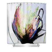 Elemental In Color Abstract Painting Shower Curtain