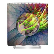 Elemental Space Shower Curtain
