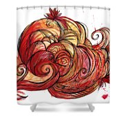 Elements Of Fire Shower Curtain
