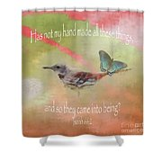 Elements Of Nature - Verse Shower Curtain
