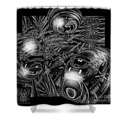 Elements Of Peace Shower Curtain