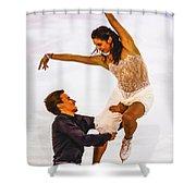 Elena Ilinykh And Ruslan Zhiganshin Shower Curtain