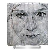 Unknown, Portrait Shower Curtain