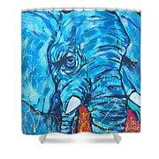 Elephant #3 Shower Curtain