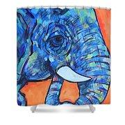 Elephant# 6 Shower Curtain