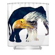 Elephant And Eagle Shower Curtain