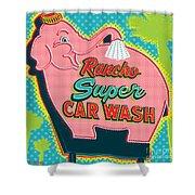 Elephant Car Wash - Rancho Mirage - Palm Springs Shower Curtain