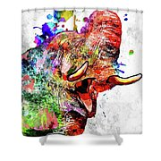 Elephant Colored Grunge Shower Curtain