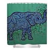 Elephant Dreams Shower Curtain