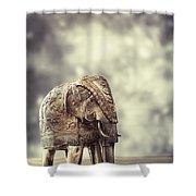 Elephant Figure Shower Curtain