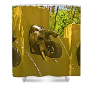 Elephant Fountain One Shower Curtain