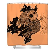 Elephant In Outer Space Shower Curtain