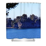 Elephant Island Kachemak Bay Shower Curtain
