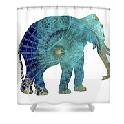 Elephant Maps Shower Curtain