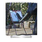 Elephant Painting Shower Curtain