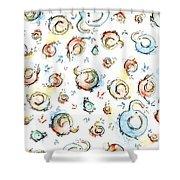Elephant Pattern Watercolor Shower Curtain